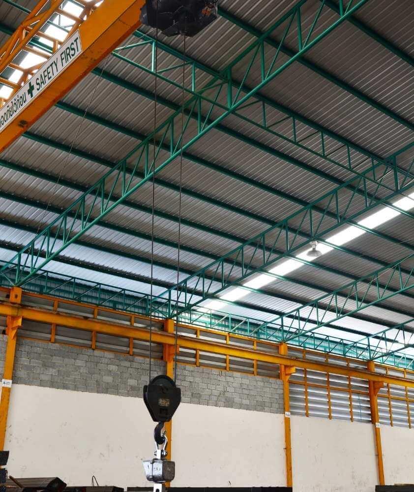 Wiata magazynowa - konstrukcja hali magazynowej - Firma Bud-Blach