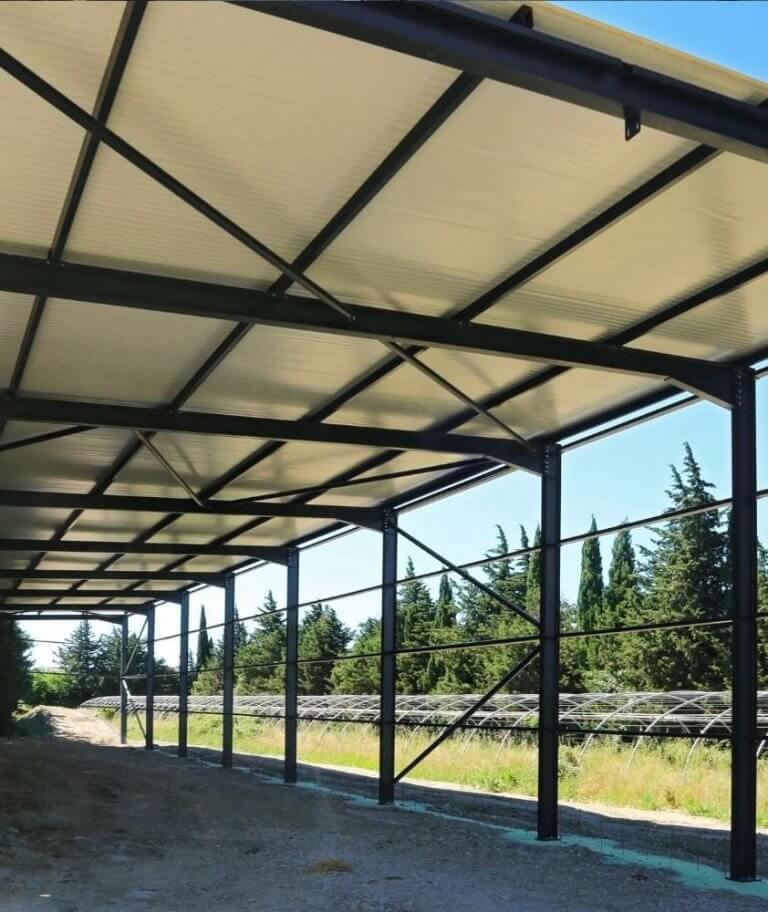 Wiata magazynowa - konstrukcja hali magazynowej - zadaszenie - Firma Bud-Blach